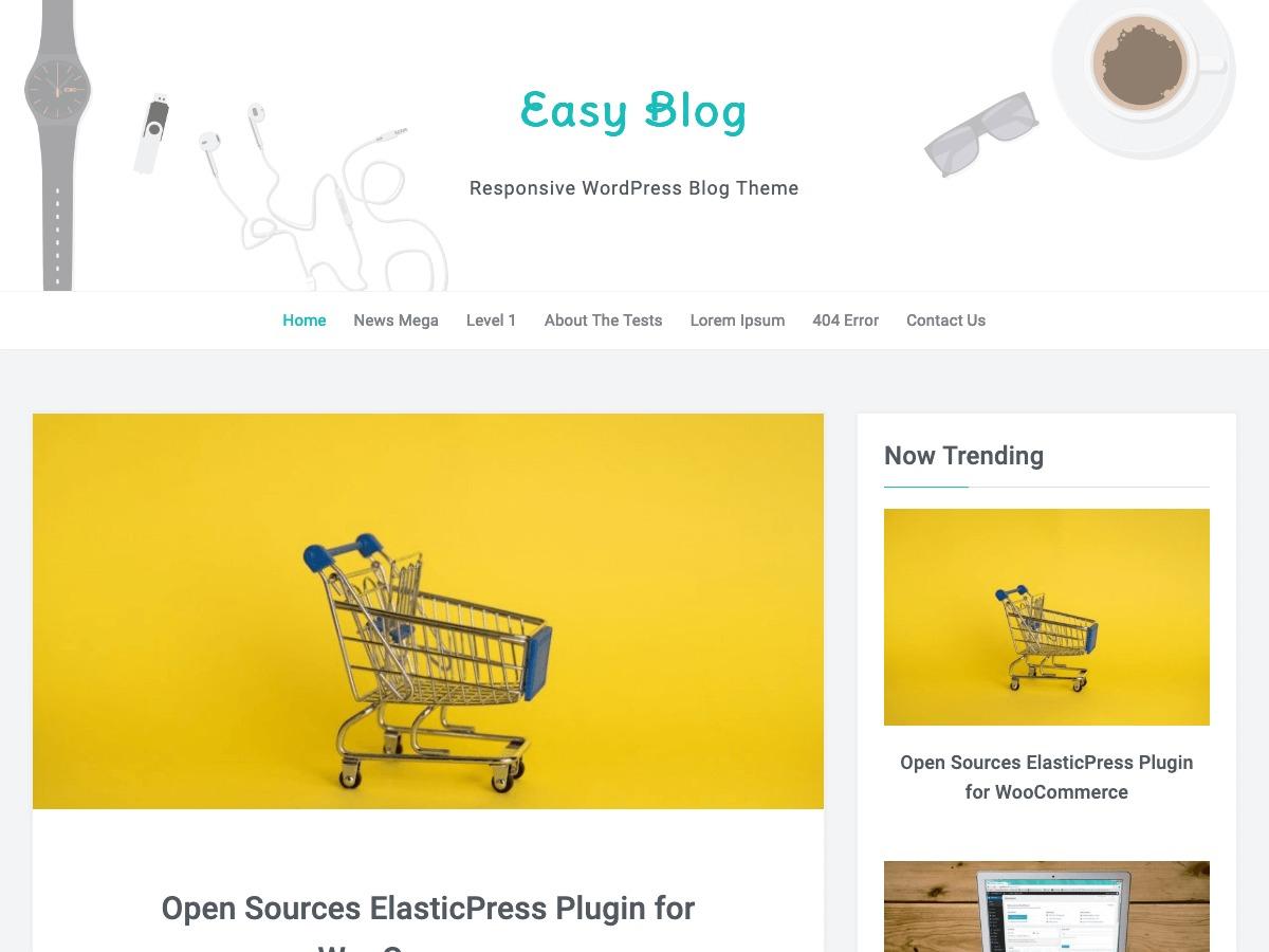 EasyBlog WordPress template free