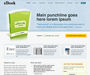 eBook WordPress shop theme