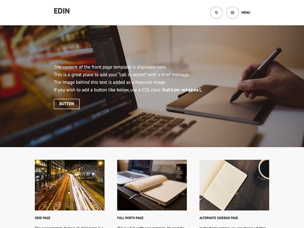 Edin company WordPress theme