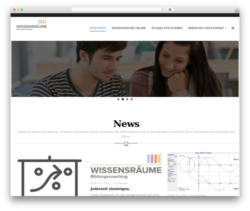 Edubase WordPress theme design - wissensraum.com