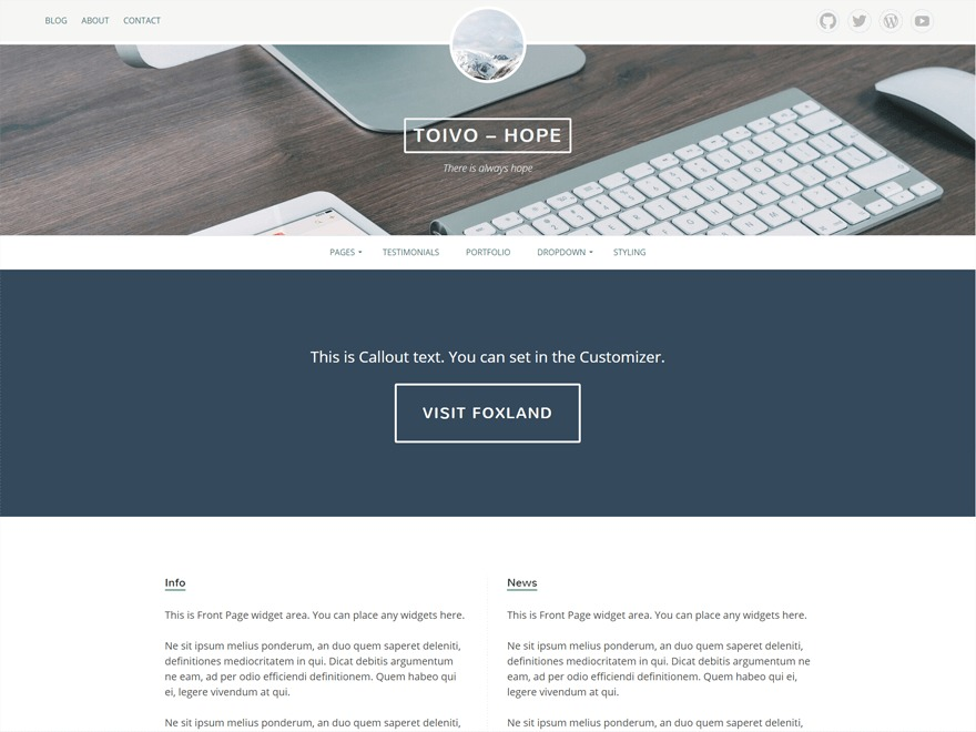 Eemeli WordPress template for business