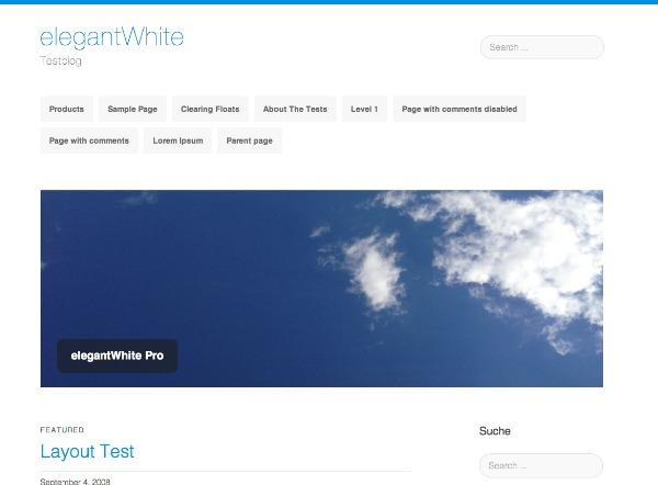elegantWhite WordPress blog theme