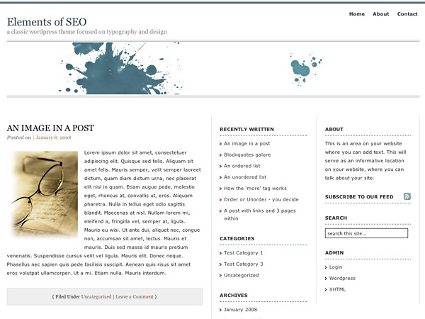 Elements of SEO WordPress theme