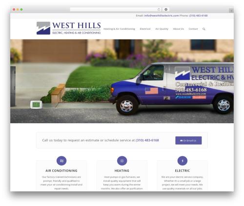Enfold template WordPress - westhillselectric.com