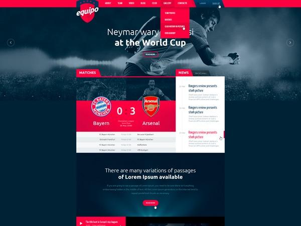 Equipo Wordpress Theme WordPress page template