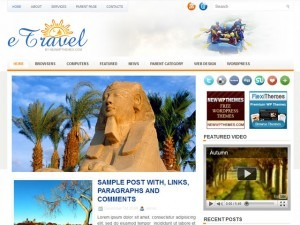 eTravel WordPress travel theme