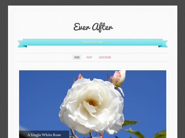 Ever After WordPress blog template