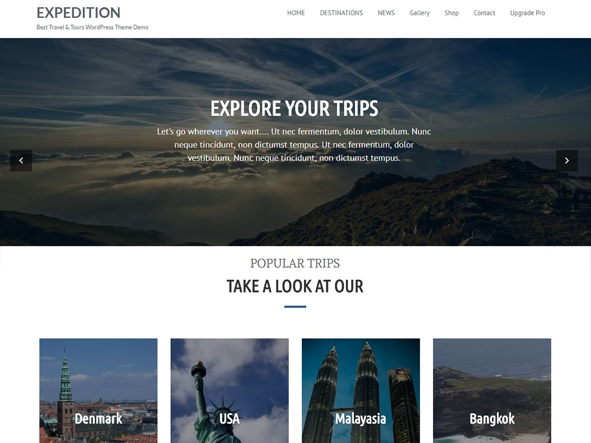 Expedition best free WordPress theme