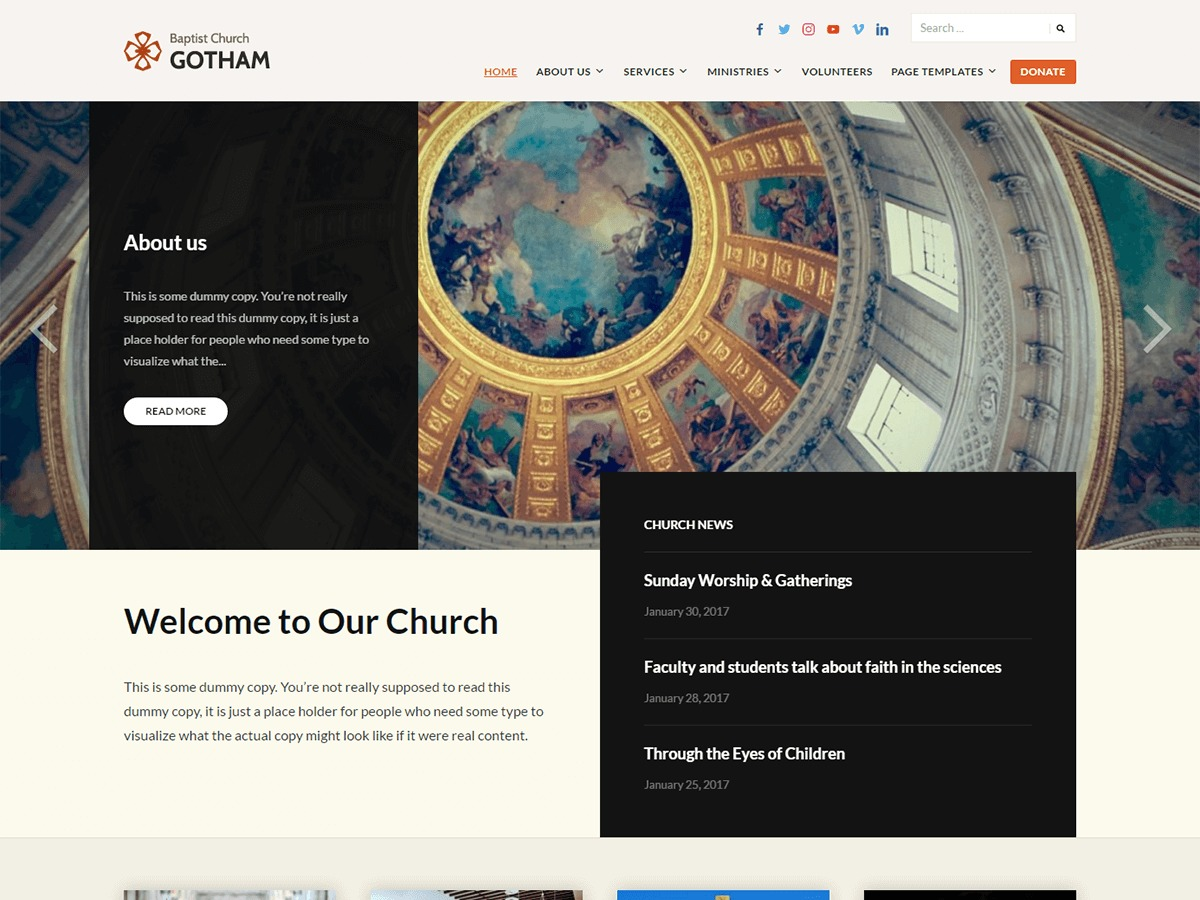 Faith free website theme
