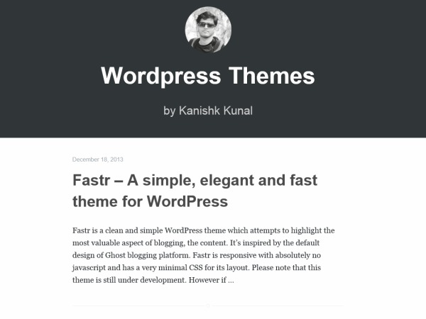 fastr WordPress blog theme