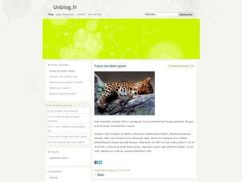 Fauna WordPress website template