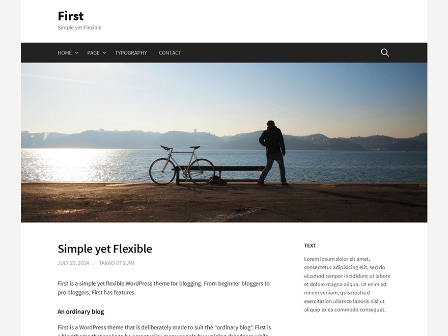 First free WordPress theme