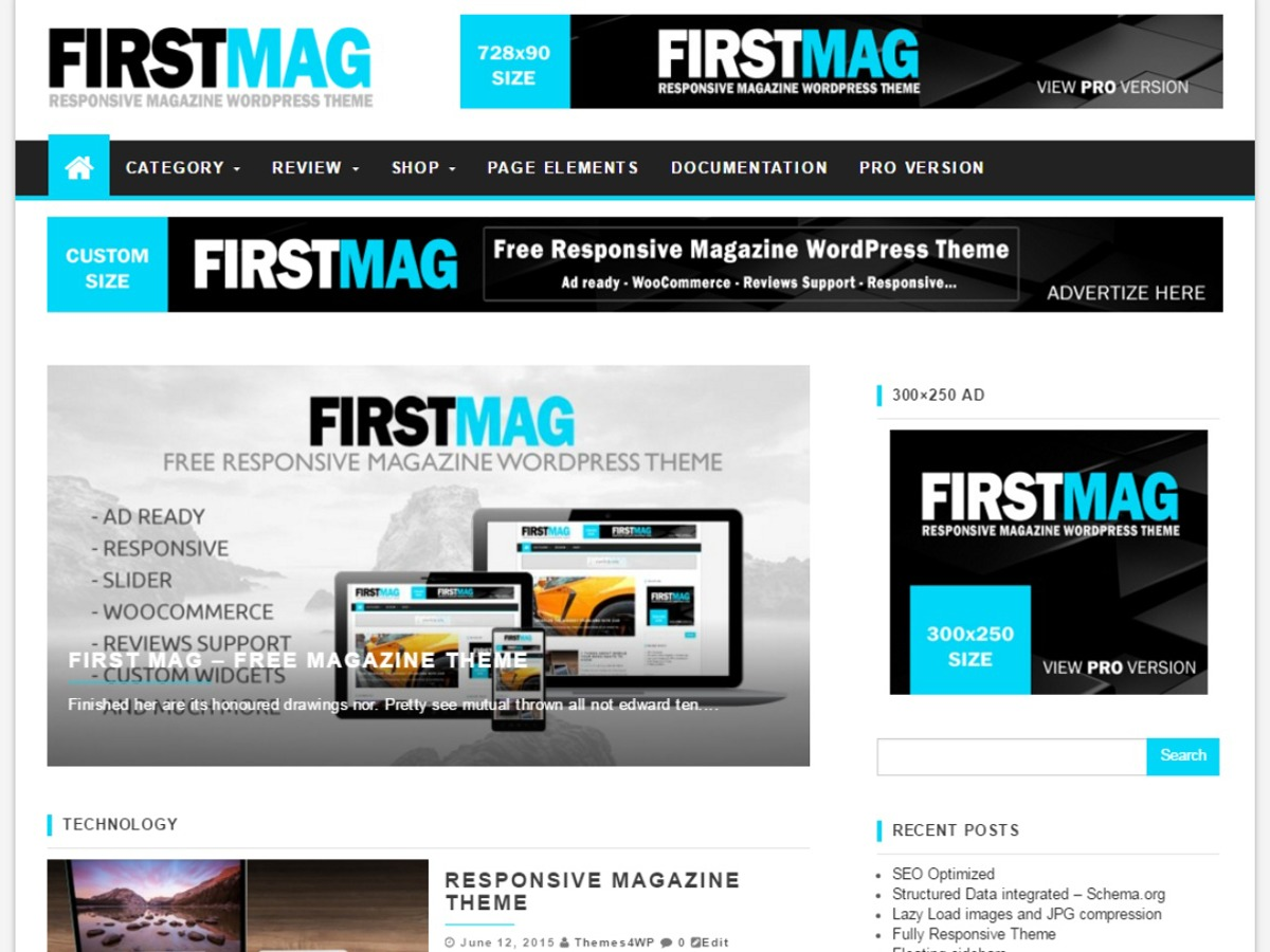 First Mag free WP theme