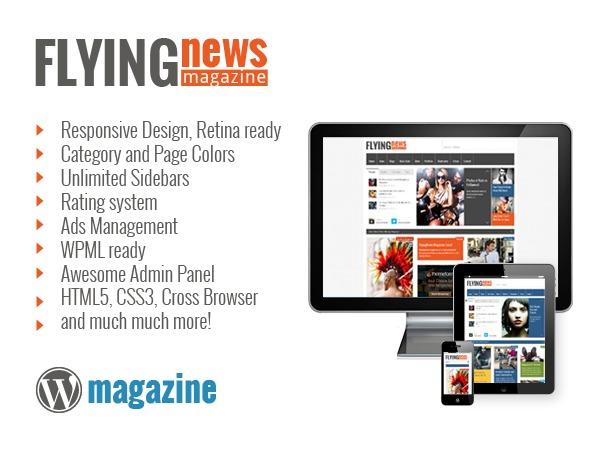 FlyingNews best WordPress magazine theme