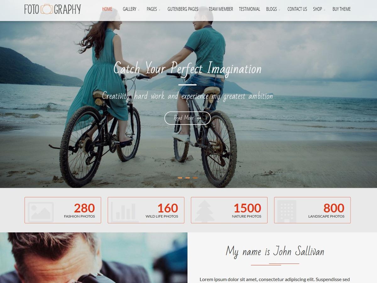 FotoGraphy photography WordPress theme