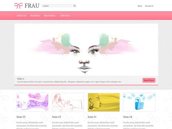 Frau theme WordPress