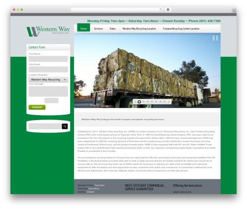 Freely WordPress theme - westernwayrecycling.com