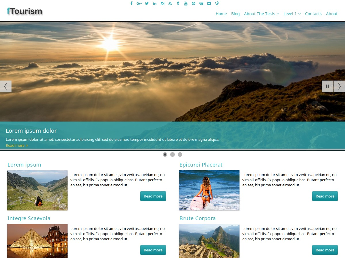 fTourism WordPress theme image