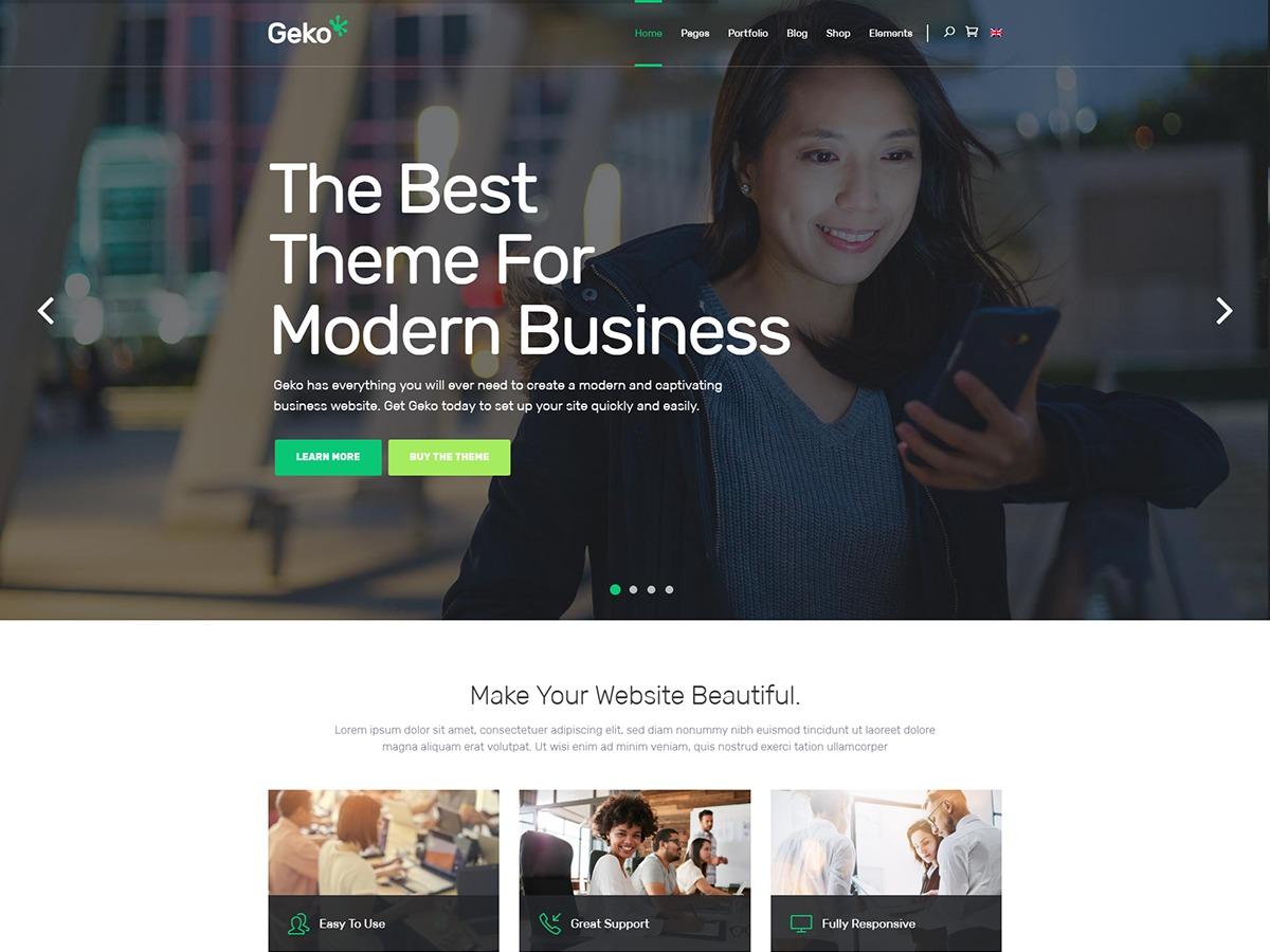 Geko company WordPress theme
