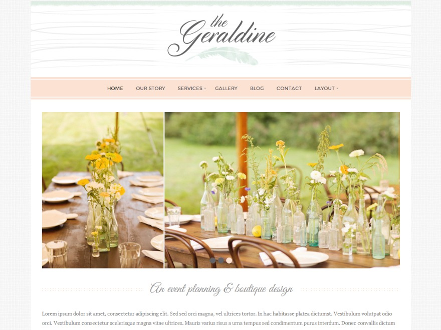 Geraldine WordPress website template