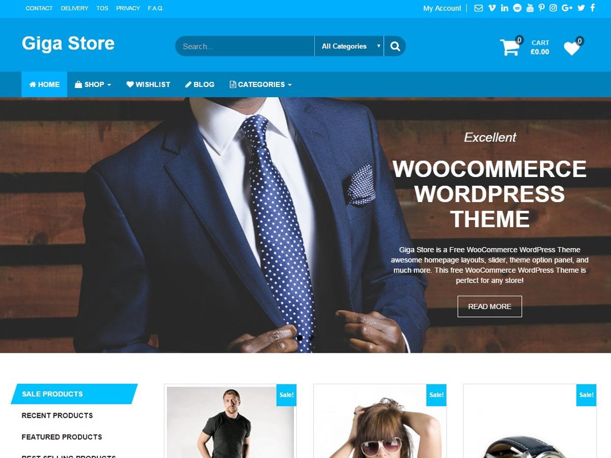 Giga Store WordPress ecommerce theme