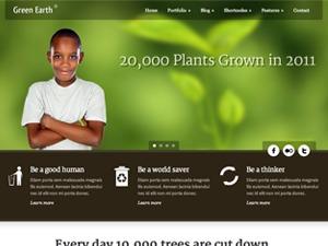 Green Earth WordPress theme design