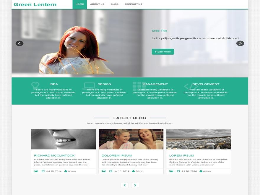 Green-Lantern best free WordPress theme