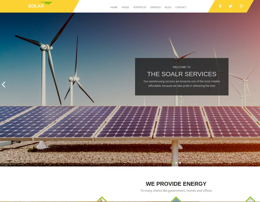 GreenEnergy business WordPress theme