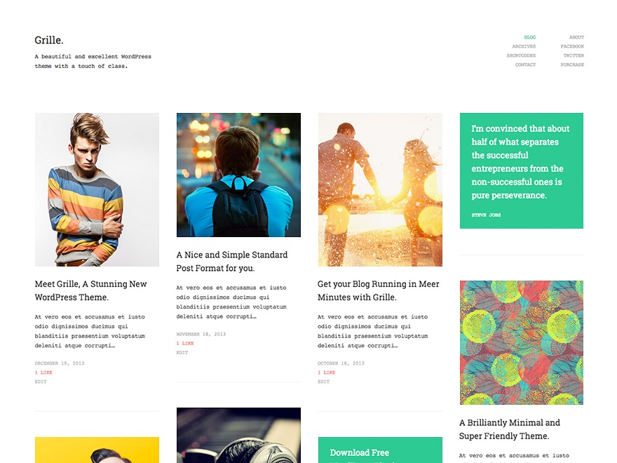 Grille WordPress theme