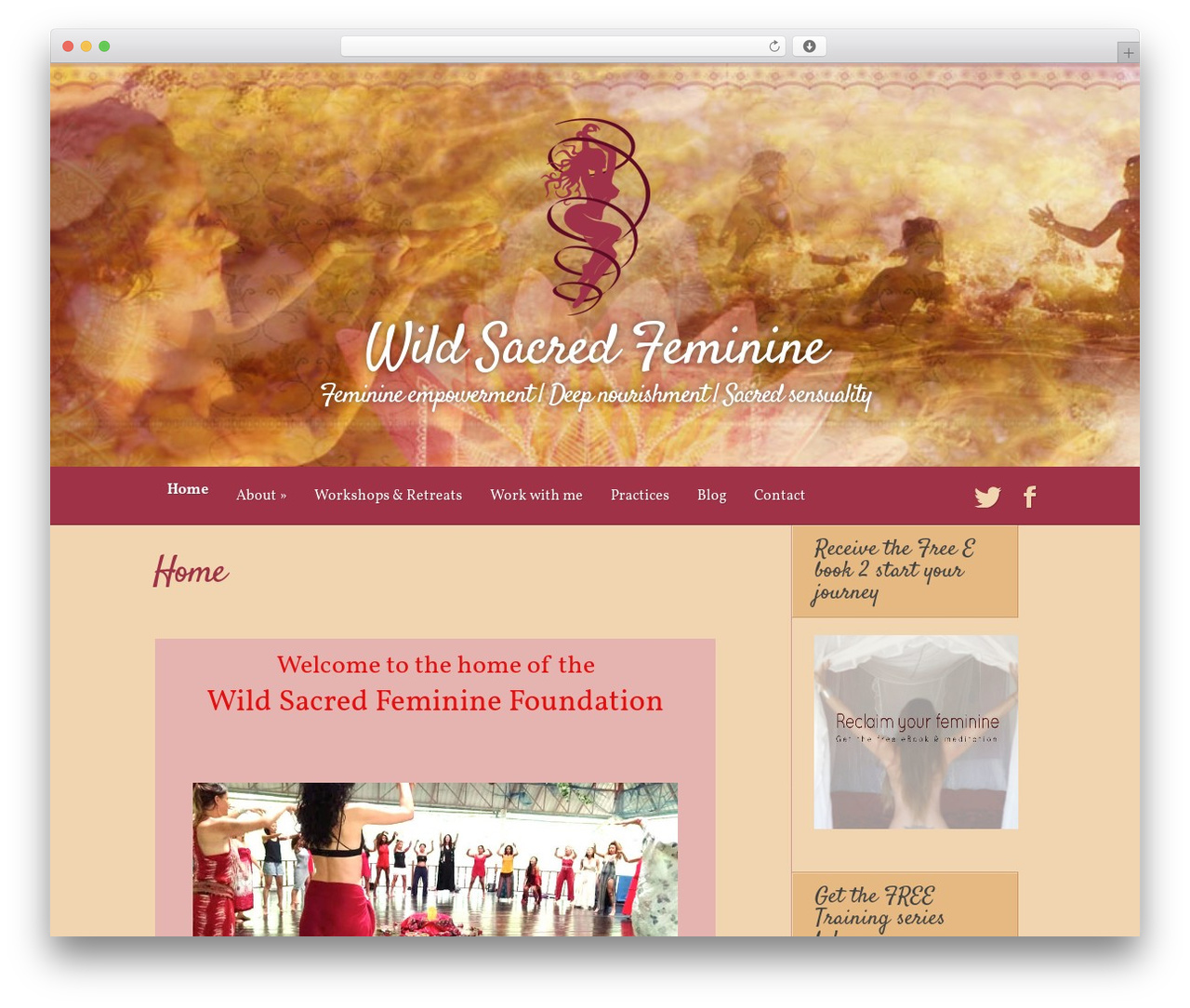 Harmony theme WordPress - wildsacredfeminine.com