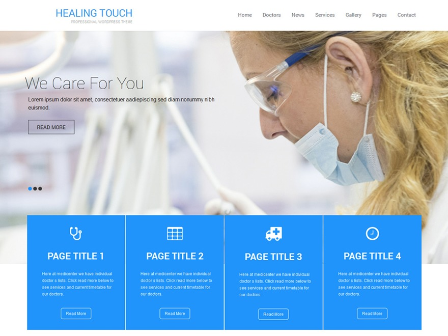 Healing Touch free WP theme