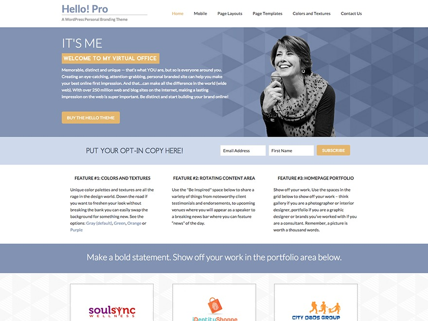 Hello Pro WordPress blog template