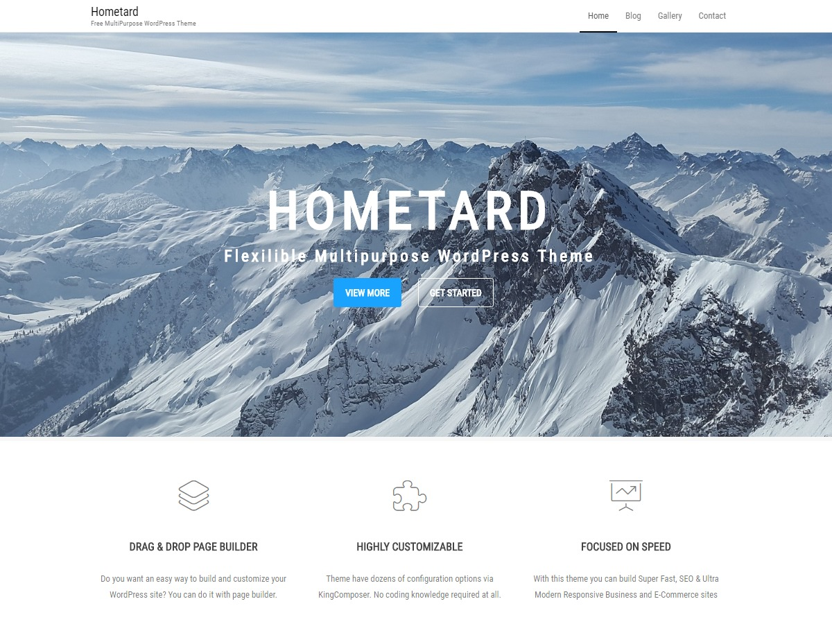 Hometard WordPress shopping theme