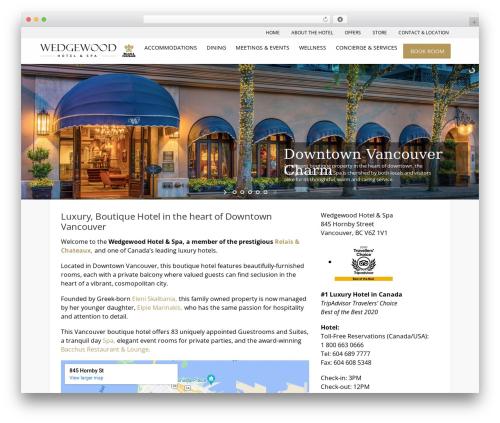Hotec best hotel WordPress theme - wedgewoodhotel.com
