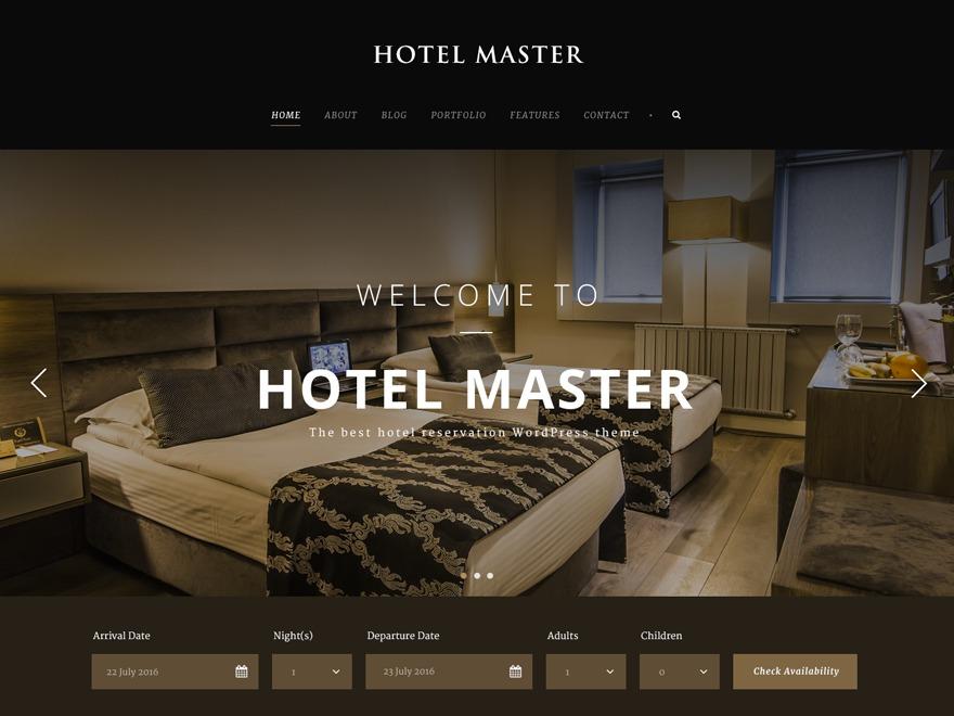 Hotel Master best hotel WordPress theme