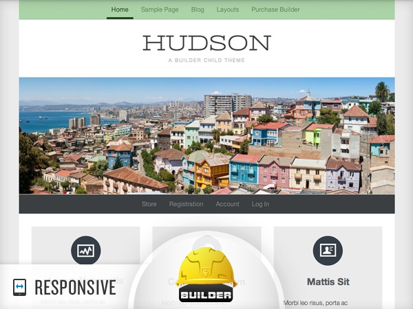 Hudson - Custom template WordPress