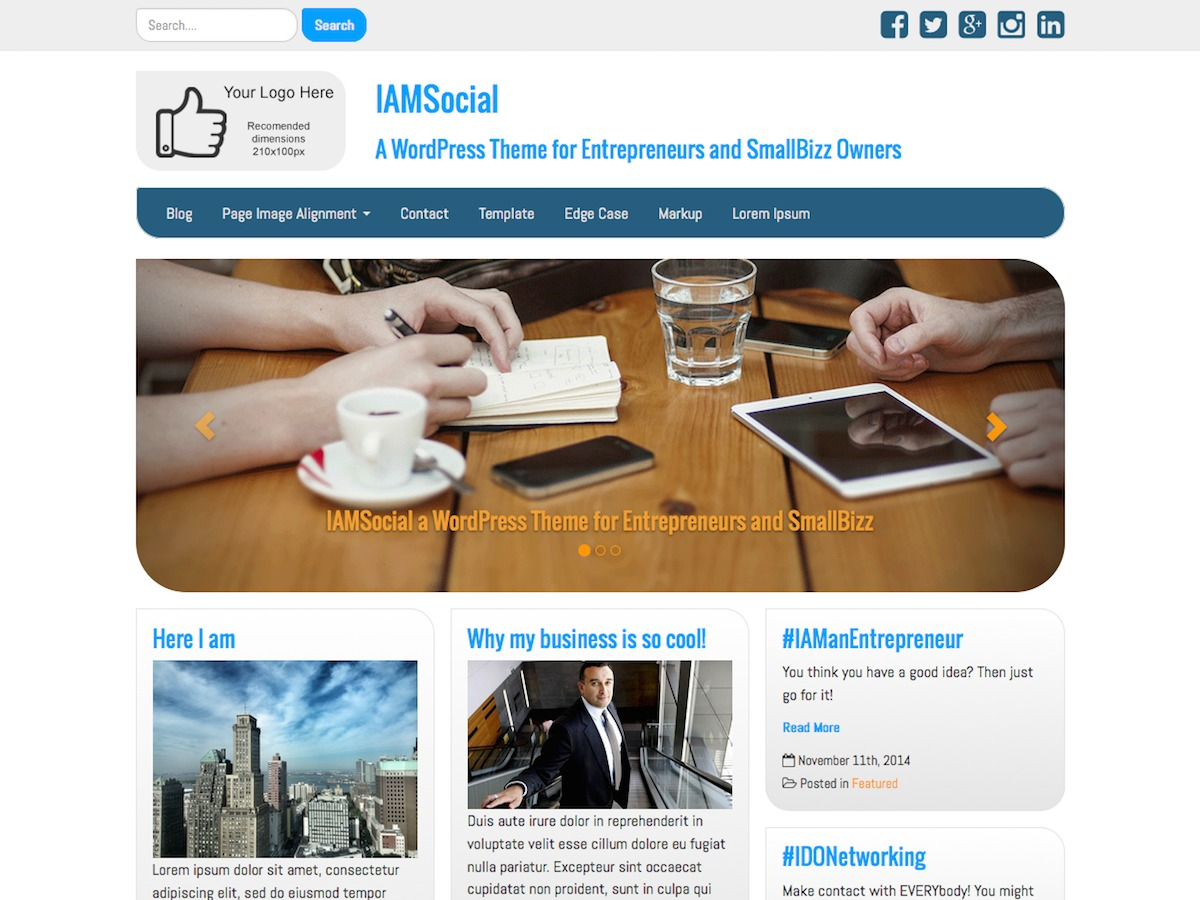 IAMSocial free WordPress theme