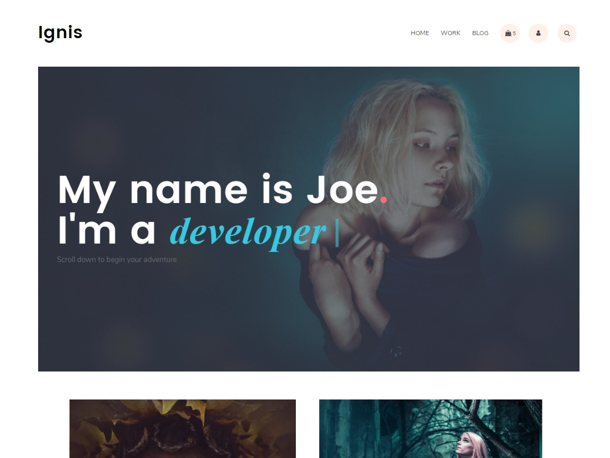 Ignis best free WordPress theme