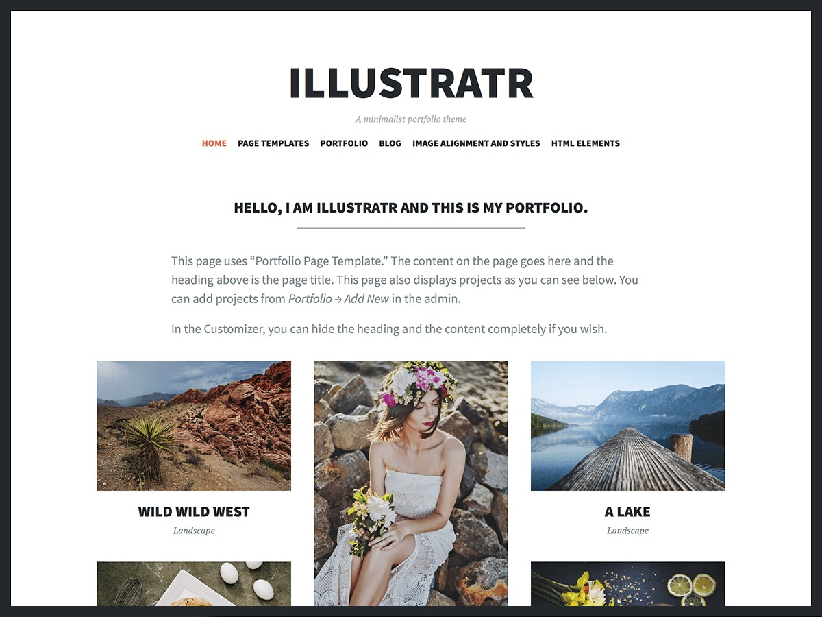 Illustratr best portfolio WordPress theme