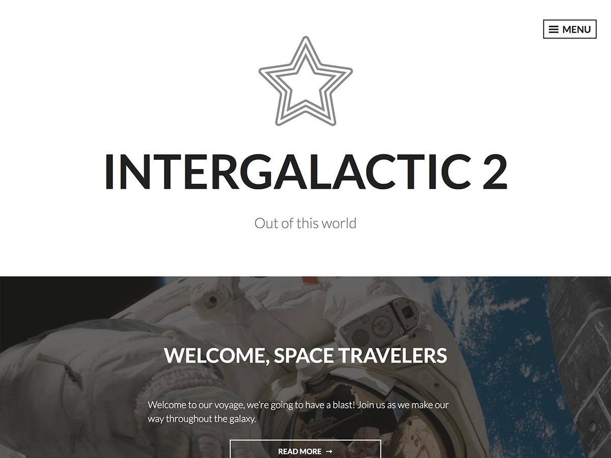 Intergalactic 2 WordPress template for photographers