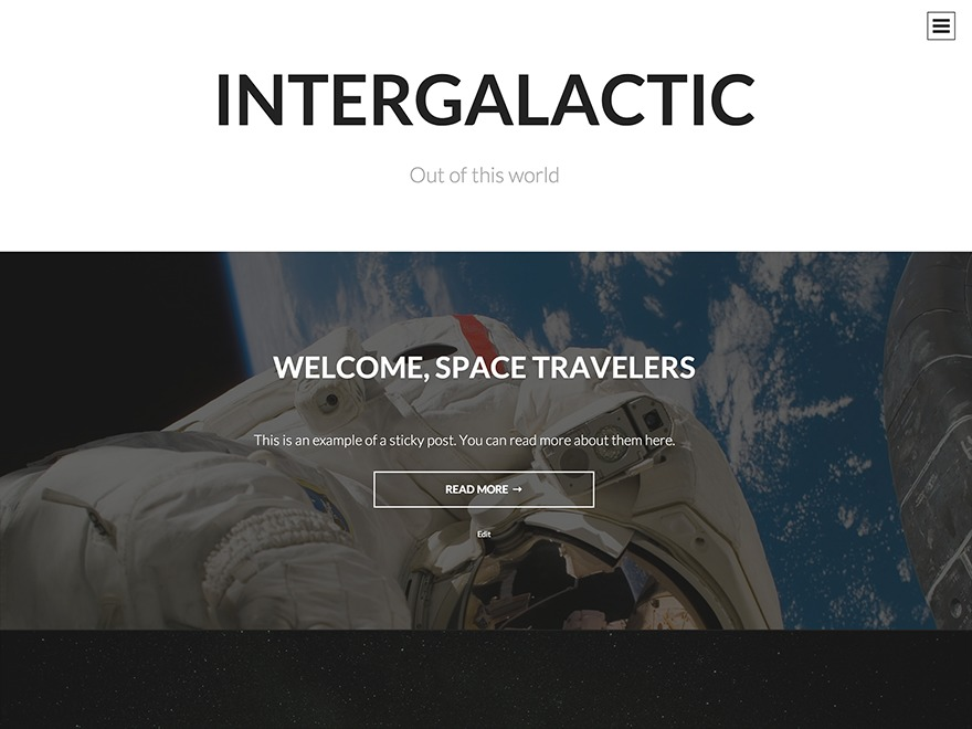 Intergalactic WordPress blog template