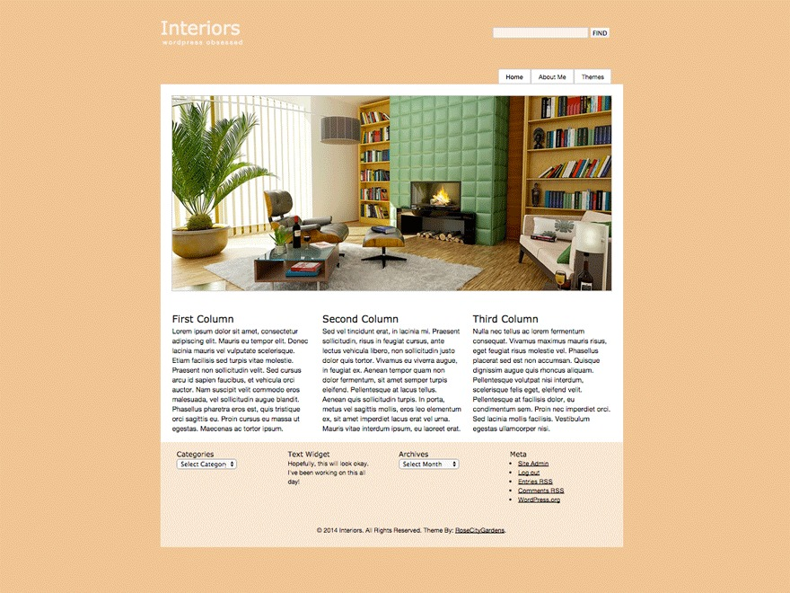 Interiors WordPress website template