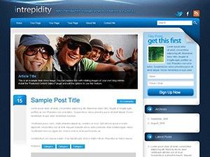 intrepidity photography WordPress theme