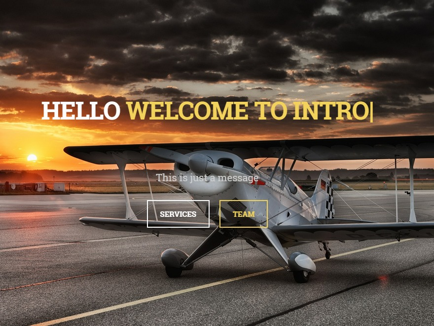Intro company WordPress theme