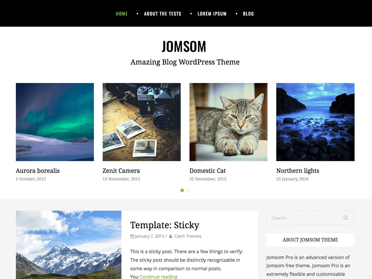 Jomsom free WordPress theme