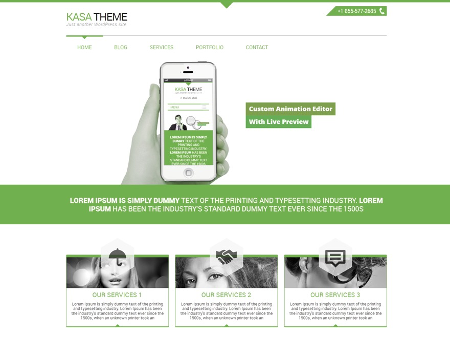 Kasa Green best WordPress template