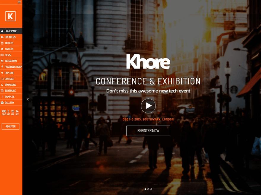 Khore template WordPress
