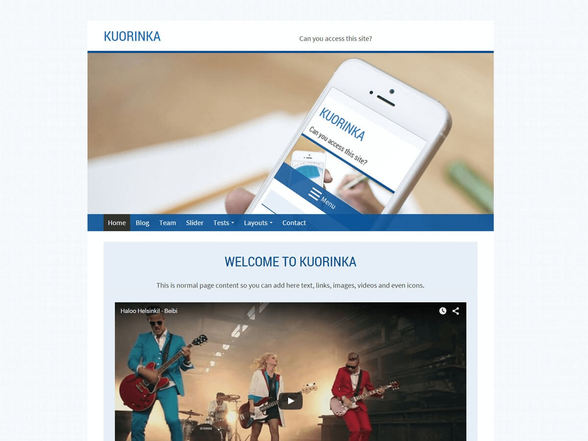 Kuorinka free WP theme
