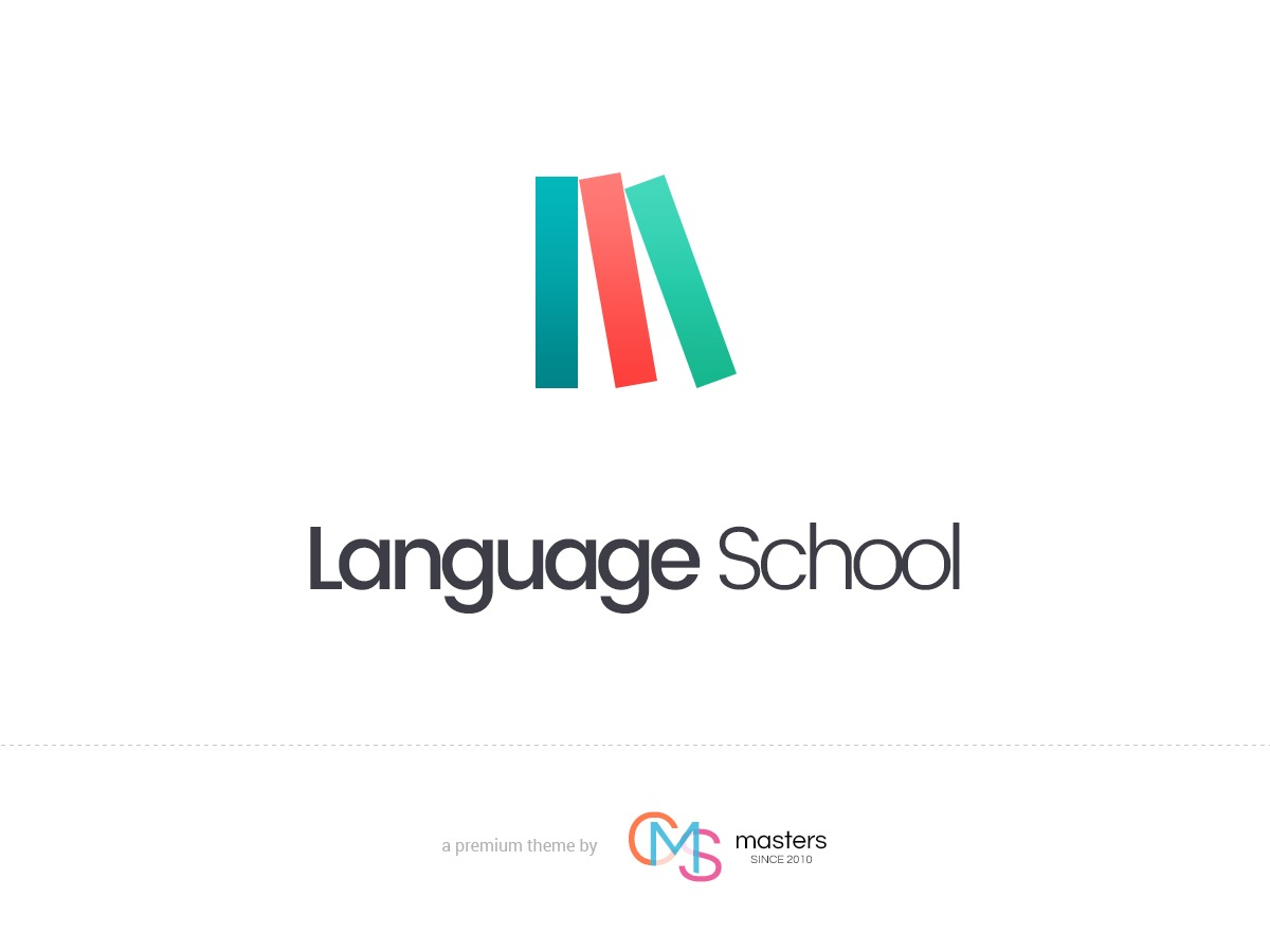 Language School personal WordPress theme