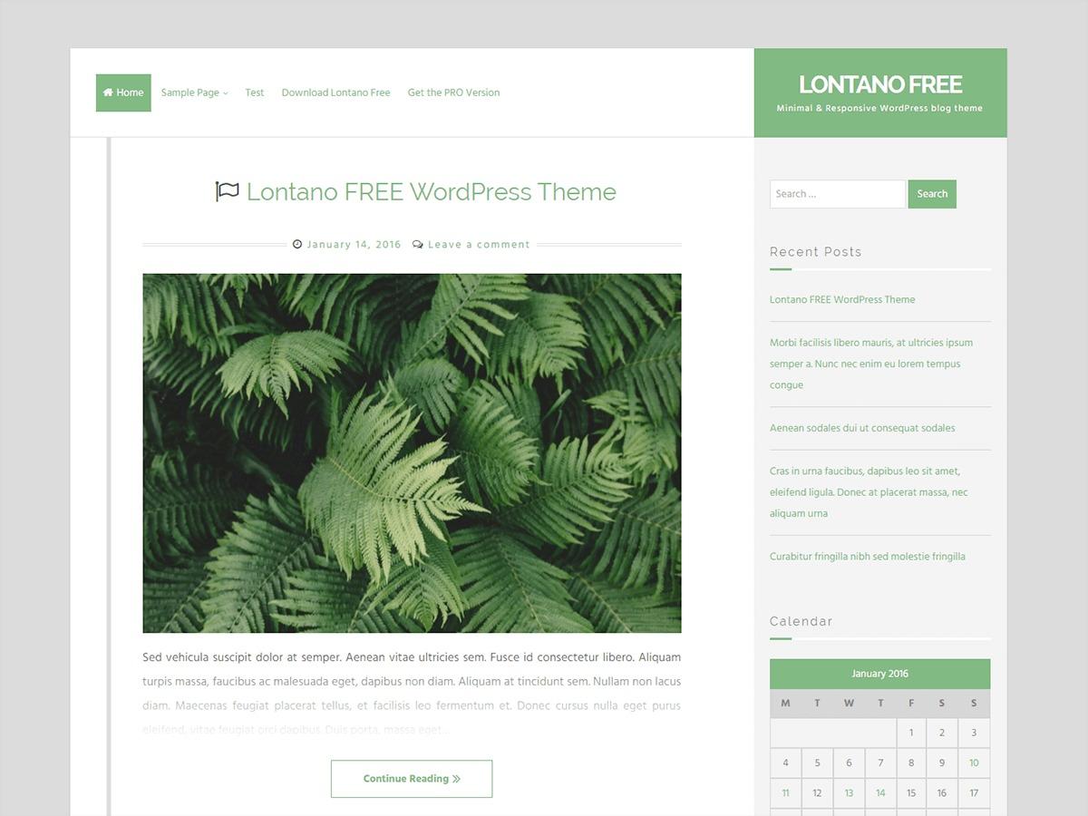Lontano WordPress news theme